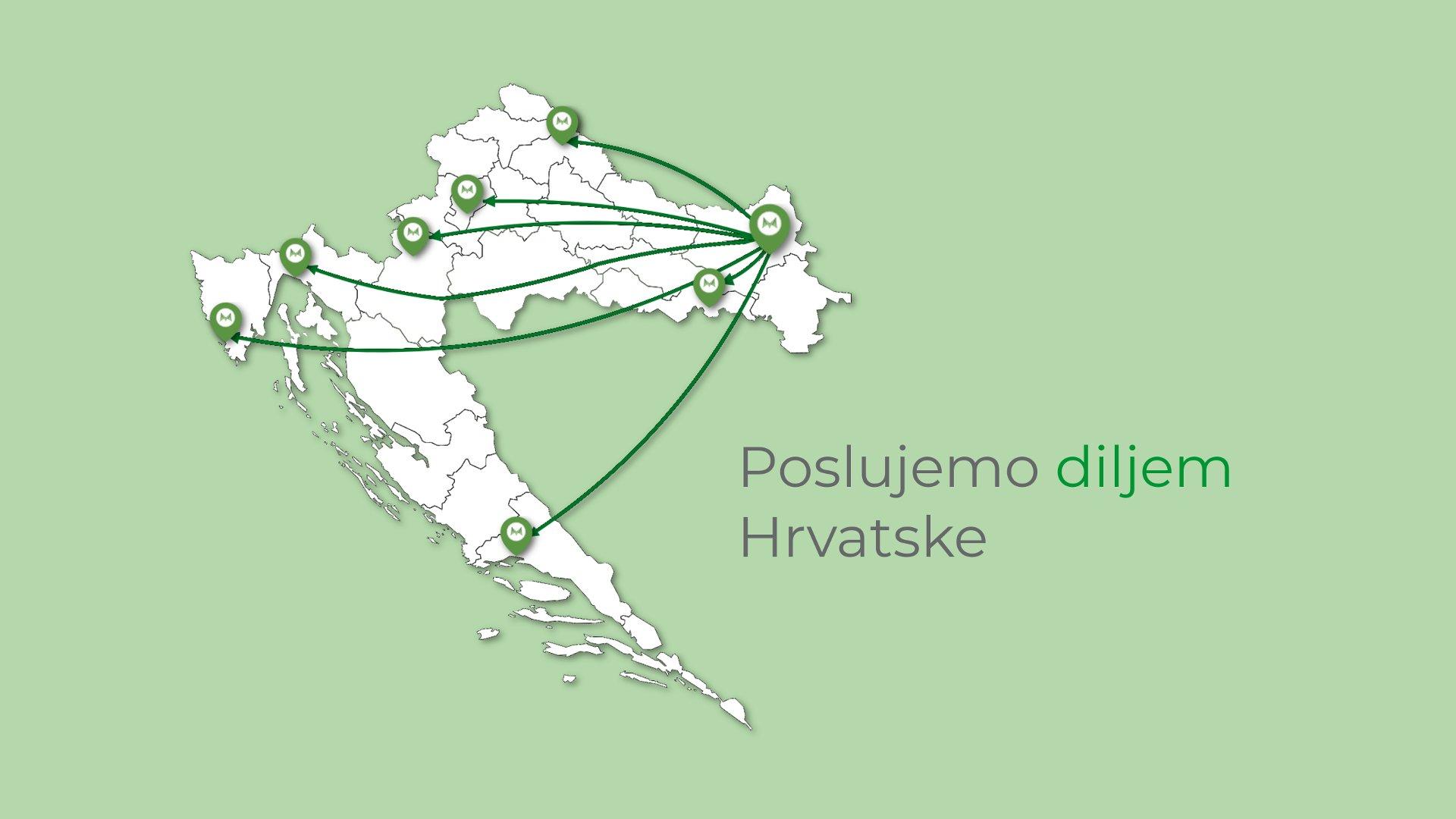 Poslujemo diljem Hrvatske